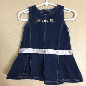 Other - Baby girl jean floral dress size 6-9 months